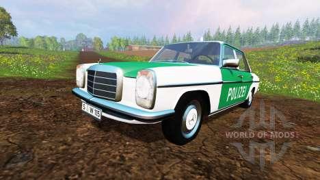 Mercedes-Benz 200D (W115) 1973 Police para Farming Simulator 2015