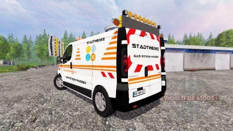 Renault Trafic [stadtwerke] para Farming Simulator 2015