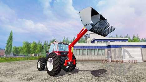 Instalados en la parte trasera cargador frontal para Farming Simulator 2015