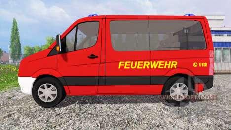 Volkswagen Crafter [feuerwehr] para Farming Simulator 2015