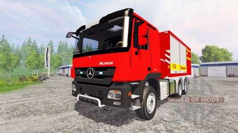 Mercedes-Benz Actros Feuerwehr para Farming Simulator 2015