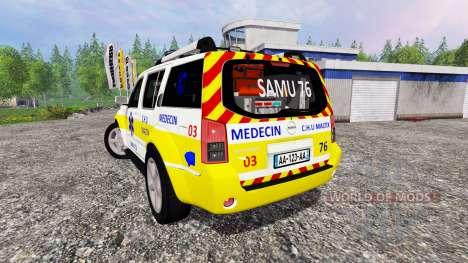 Nissan Pathfinder SAMU para Farming Simulator 2015