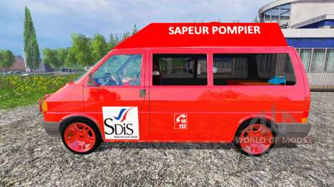 Volkswagen Transporter T4 [sapeur pompier] para Farming Simulator 2015