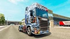 La piel de Mass Effect 3 en la unidad tractora Scania para Euro Truck Simulator 2