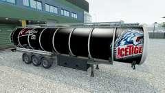 La piel de Nuremberg Hielo Tigres en el remolque para Euro Truck Simulator 2