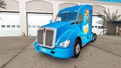 Blanco de la piel del Castillo en un Kenworth tractor para American Truck Simulator