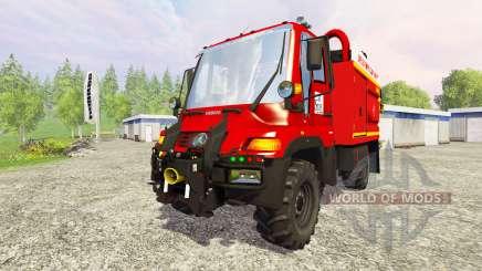 Mercedes-Benz Unimog U400 GIMAEX para Farming Simulator 2015