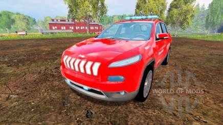 Jeep Cherokee KL 2014 [feuerwehr] para Farming Simulator 2015