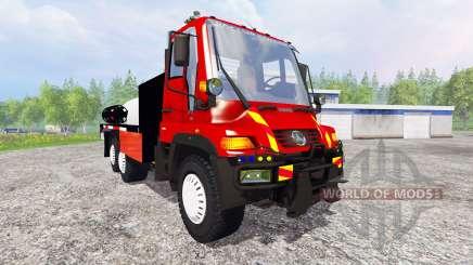 Mercedes-Benz Unimog U400 [sapeur pompier] para Farming Simulator 2015