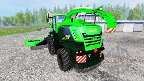 CLAAS Jaguar 870 [multicolor multifruit] v3.1 para Farming Simulator 2015