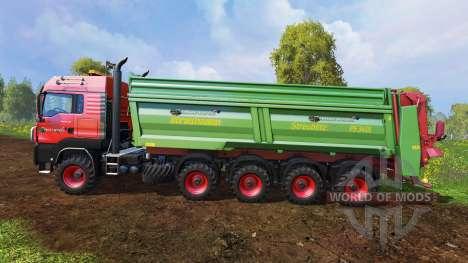 MAN TGS 10x8 [manure] v1.2 para Farming Simulator 2015