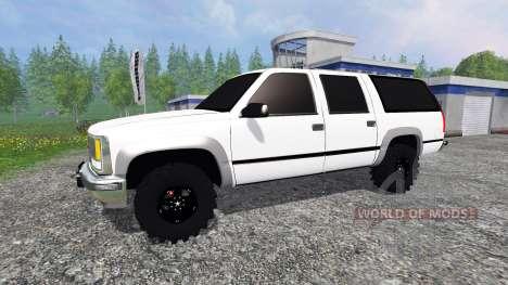 Chevrolet Suburban 1998 v2.0 para Farming Simulator 2015