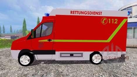 Volkswagen Crafter Rettungsdienst para Farming Simulator 2015