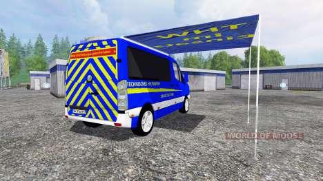 Volkswagen Crafter THW ELW para Farming Simulator 2015