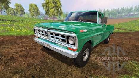 Ford F-100 1970 4x4 para Farming Simulator 2015