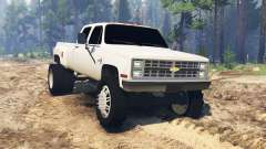 Chevrolet Silverado Dually Crew Cab 1986 para Spin Tires