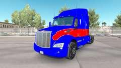 El rojo y el azul de la piel para el camión Peterbilt para American Truck Simulator