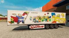 Los Simpsons de la piel para un remolque para Euro Truck Simulator 2