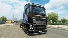 Ojos malignos de la piel para camiones Volvo para Euro Truck Simulator 2