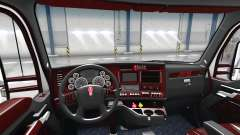 El Deluxe negro interior Kenworth T680 para American Truck Simulator