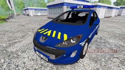 Peugeot 308 Gendarmerie para Farming Simulator 2015