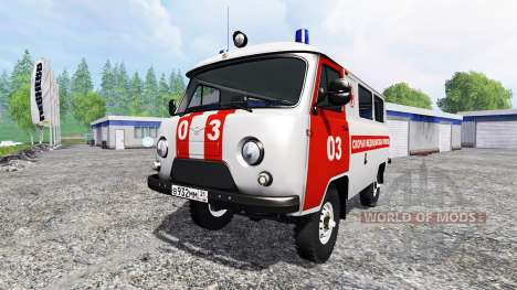 UAZ-2206 [ambulancia] v2.0 para Farming Simulator 2015