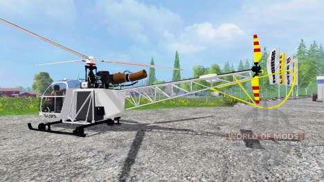 Sud-Aviation Alouette II para Farming Simulator 2015
