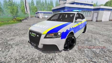 Audi RS3 Police para Farming Simulator 2015