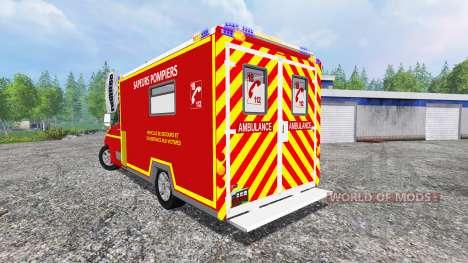 Renault Master 2016 [sapeurs-pompiers] para Farming Simulator 2015