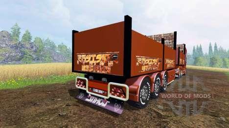 Scania R1000 [flatbed] para Farming Simulator 2015