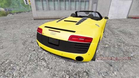 Audi R8 Spyder 2015 para Farming Simulator 2015