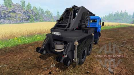 KAMAZ de la Grúa para Farming Simulator 2015