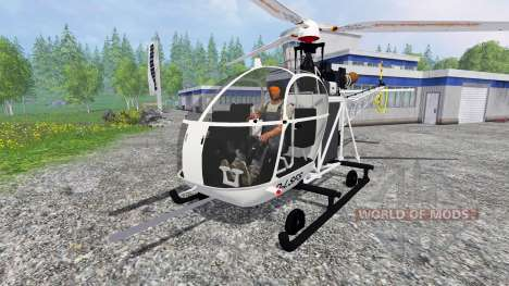 Sud-Aviation Alouette II para Farming Simulator 2015