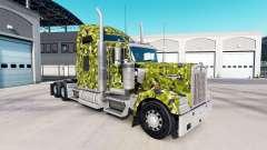 La piel del Ejército de Camuflaje en el camión Kenworth W900 para American Truck Simulator