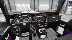 Púrpura interior Kenworth W900 para American Truck Simulator