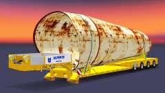Bajo marco de arrastre con una carga de tuberías oxidadas para Euro Truck Simulator 2