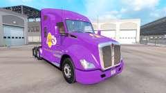 La piel de Los Angeles Lakers en el tractor Kenworth para American Truck Simulator