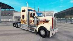 La piel de la India Espíritu en el camión Kenworth W900 para American Truck Simulator