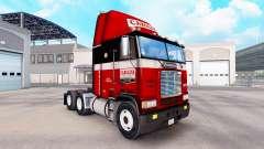 La piel en Carolina del tractor Freightliner FLB para American Truck Simulator