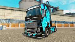 La piel de Humo Verde para camiones Volvo para Euro Truck Simulator 2