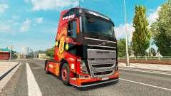 El Manchester United de la piel para camiones Volvo para Euro Truck Simulator 2