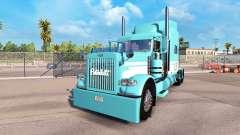 La piel Azul-Blanco para el camión Peterbilt 389 para American Truck Simulator