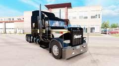 La piel de Plata-negro para el camión Peterbilt 389 para American Truck Simulator