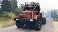 Kraz-64372 para Spin Tires