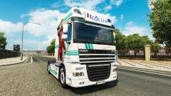 Collin IronMan de la piel para DAF camión para Euro Truck Simulator 2
