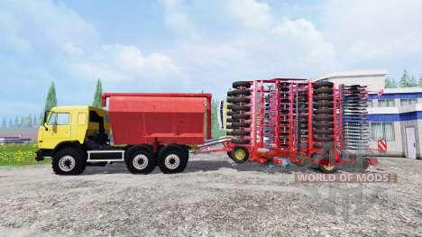 KamAZ-54115 con cargador de macetas y una maceta para Farming Simulator 2015