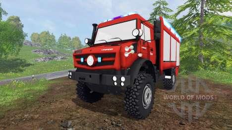 Mercedes-Benz Unimog U5023 [feuerwehr] para Farming Simulator 2015