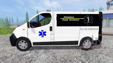 Renault Trafic Ambulance para Farming Simulator 2015