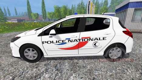 Peugeot 308 [police nationale] para Farming Simulator 2015
