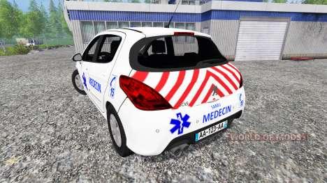 Peugeot 308 [medecin samu] para Farming Simulator 2015